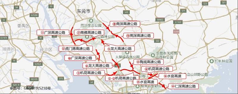 图1 端午假期前一天去程高速公路拥堵路段分布预测.jpg