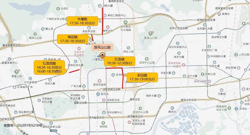 图13 莲花山公园端午假期周边道路拥堵分布(预测).jpg