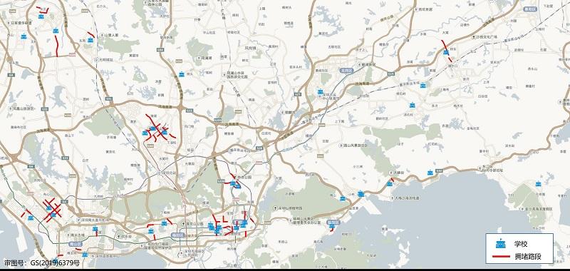 图 5 开学第一天(9月1日)早高峰全市学校周边易堵路段分布预测.jpg